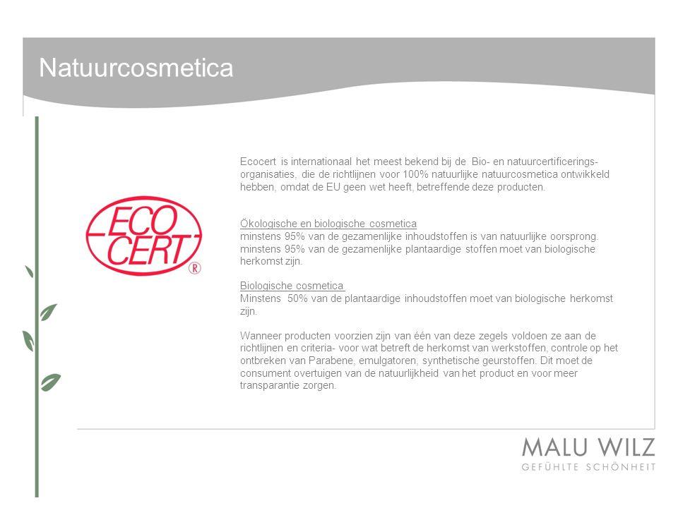 NATUURCOSMETICA De verpakking van PURE NATURE - Onderscheid zich van kleur t.o.v.
