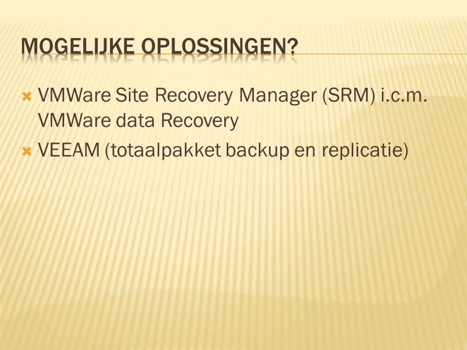  Korte voorstelling:  Onderstaande video licht alles kort toe:  http://www.vmware.com/products/site-recovery- manager/ http://www.vmware.com/products/site-recovery- manager/