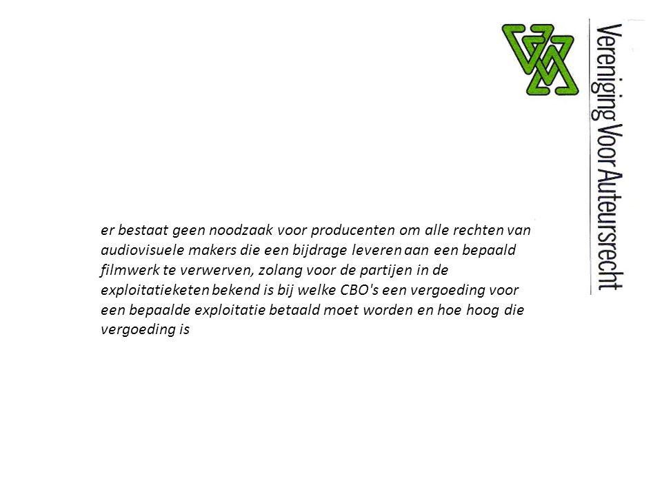 zonder producenten (die bereid zijn te investeren en risico s te nemen) zouden audiovisuele makers geen werk hebben en geen enkele vergoeding ontvangen