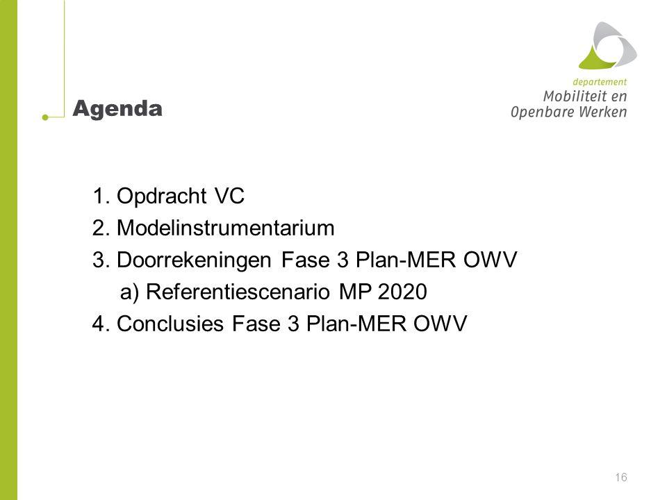 Agenda 1. Opdracht VC 2. Modelinstrumentarium 3.