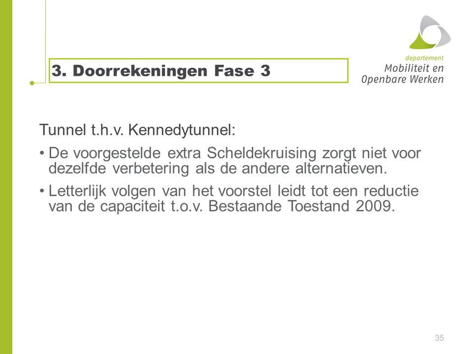 3. Doorrekeningen Fase 3 Tunnel t.h.v.
