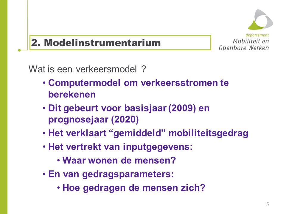 2. Modelinstrumentarium Wat is een verkeersmodel .