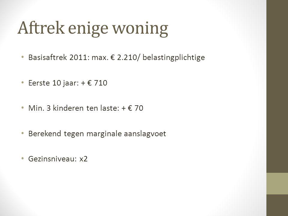 Pensioensparen • Voor 2010: max. € 870 • Bijzondere gemiddelde aanslagvoet • 30% - 40%
