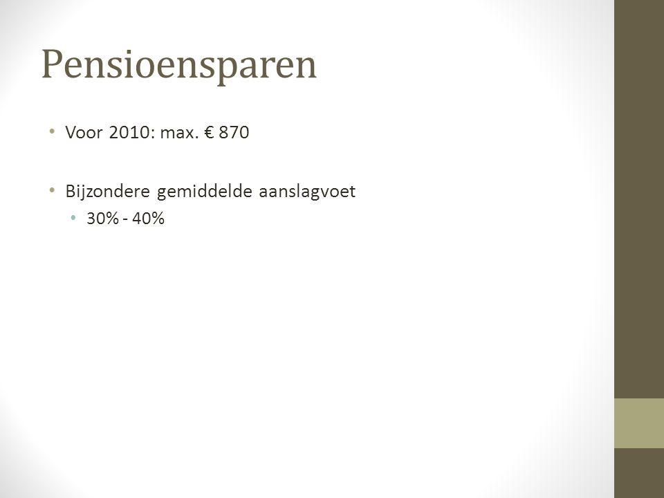Gewone levensverzekering • Voor 2011: max.