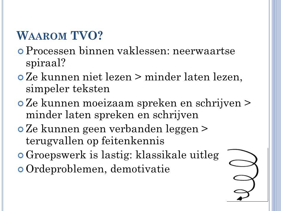 C ONTEXT CONCREET Opdracht in duo's: • Bekijk het document 'TVO en tips voor context, interactie en taalsteun'.