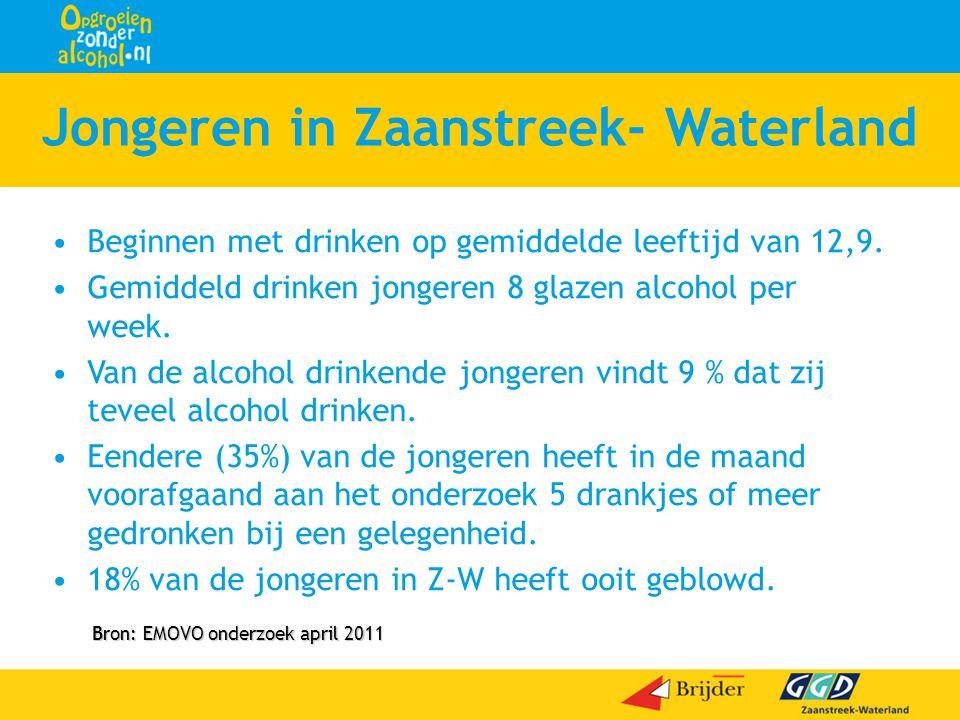 •Beginnen met drinken op gemiddelde leeftijd van 12,9. •Gemiddeld drinken jongeren 8 glazen alcohol per week. •Van de alcohol drinkende jongeren vindt