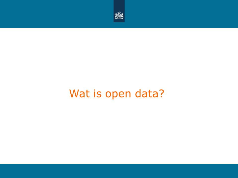 Wat is open data?