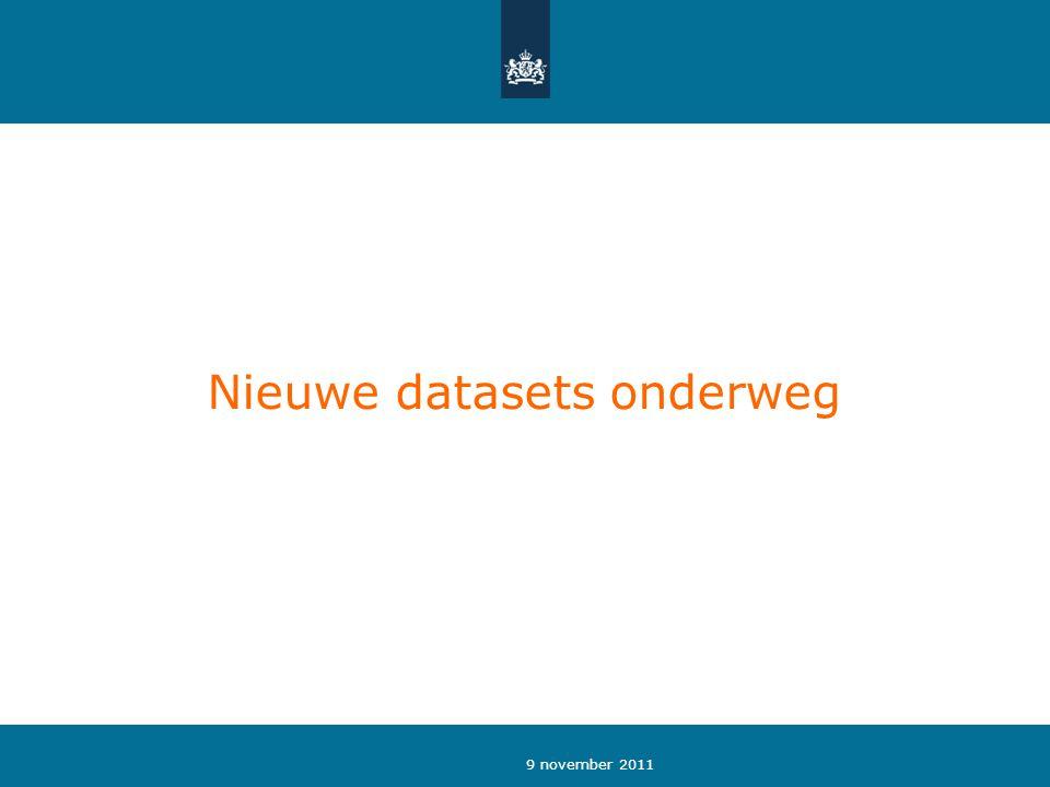Nieuwe datasets onderweg