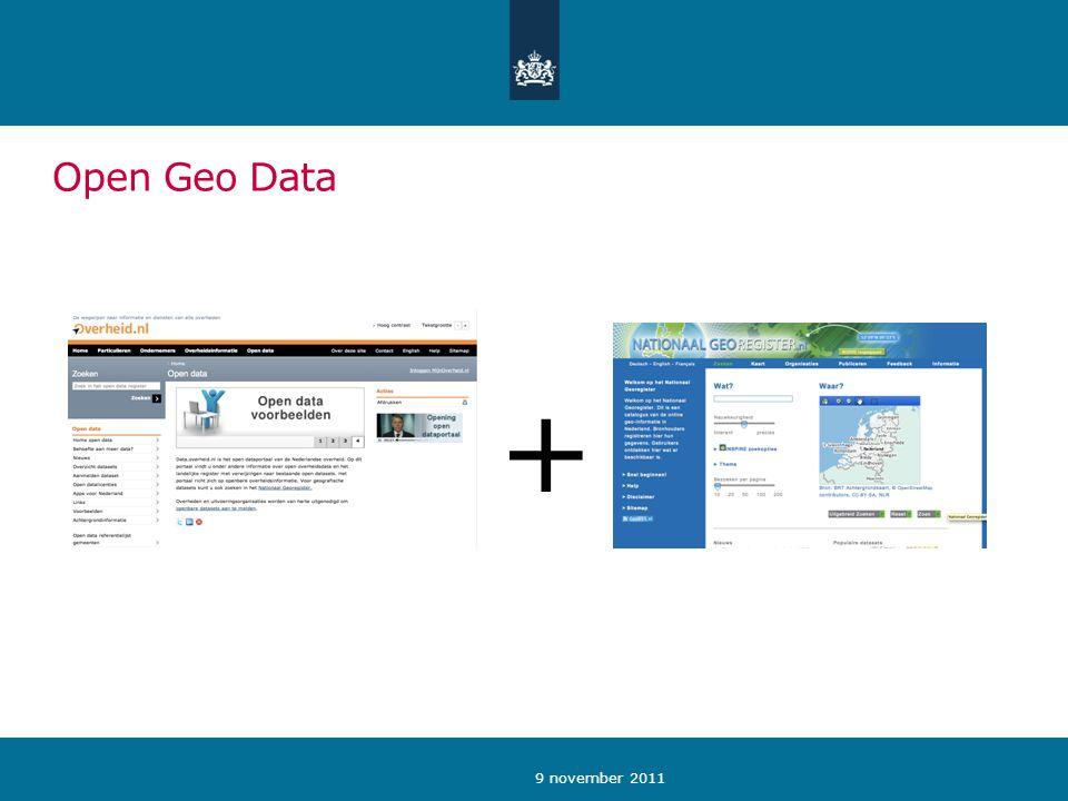 9 november 2011 Open Geo Data +