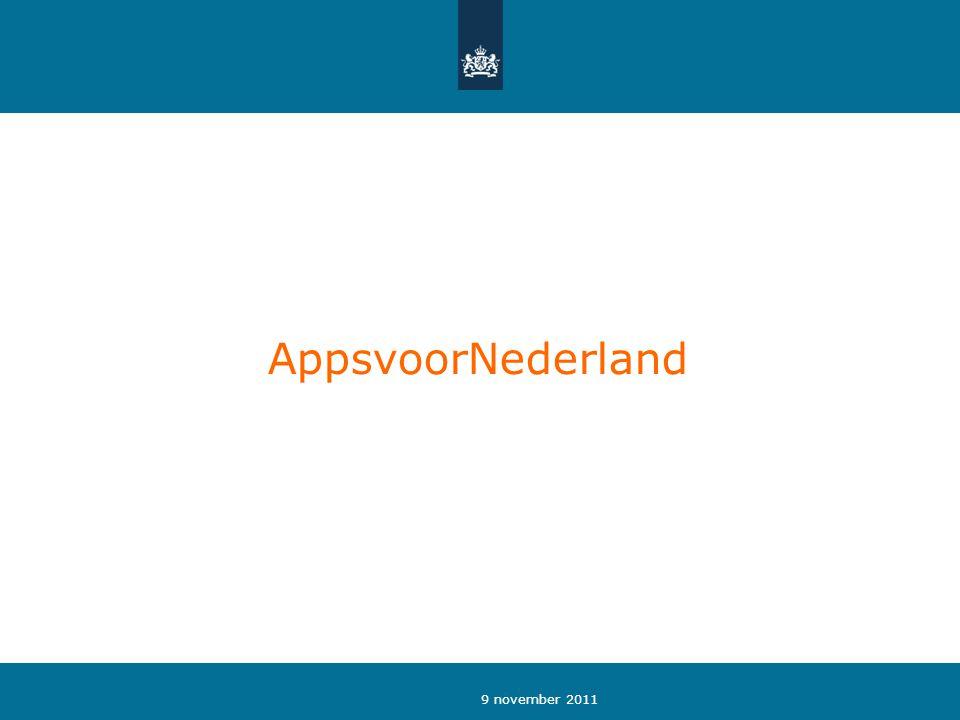 9 november 2011 AppsvoorNederland