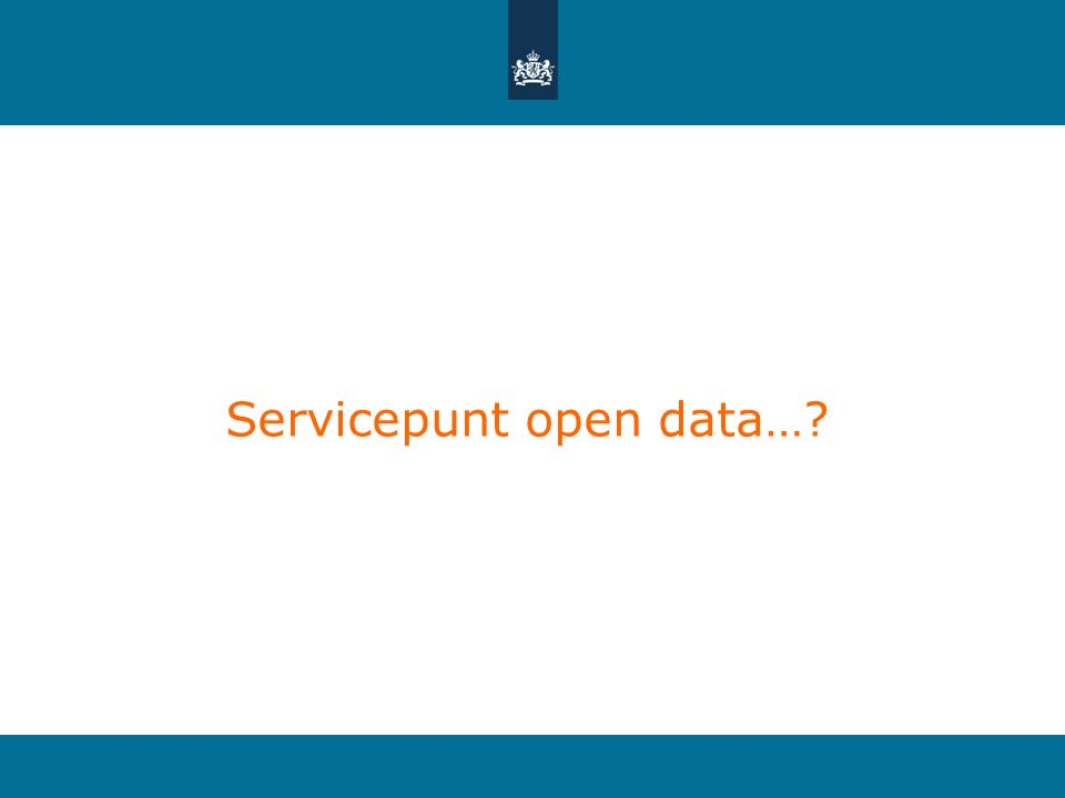 Servicepunt open data…?