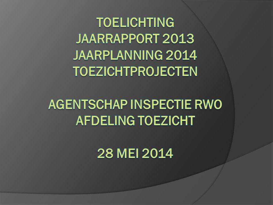  Nagaan wat de actoren vinden van onze toegepaste werkwijze:  Algemene mailing;  Aanpak inspecties;  Rapportering (verslag en bijlagen).