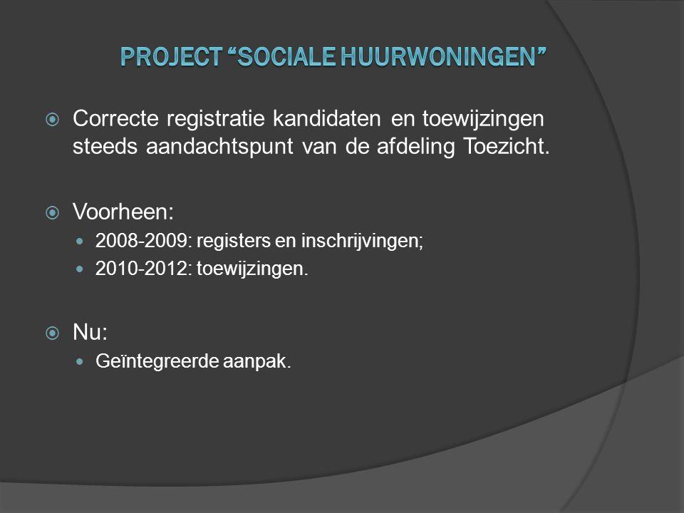  Correcte registratie kandidaten en toewijzingen steeds aandachtspunt van de afdeling Toezicht.  Voorheen:  2008-2009: registers en inschrijvingen;