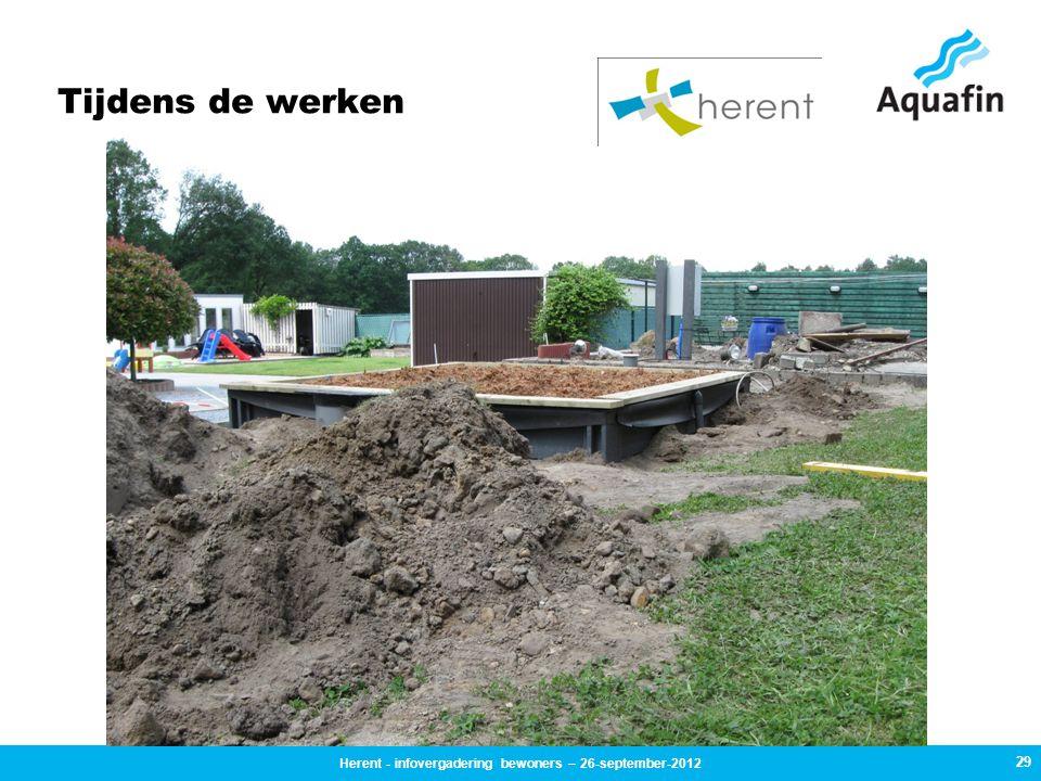 Tijdens de werken 29 Herent - infovergadering bewoners – 26-september-2012