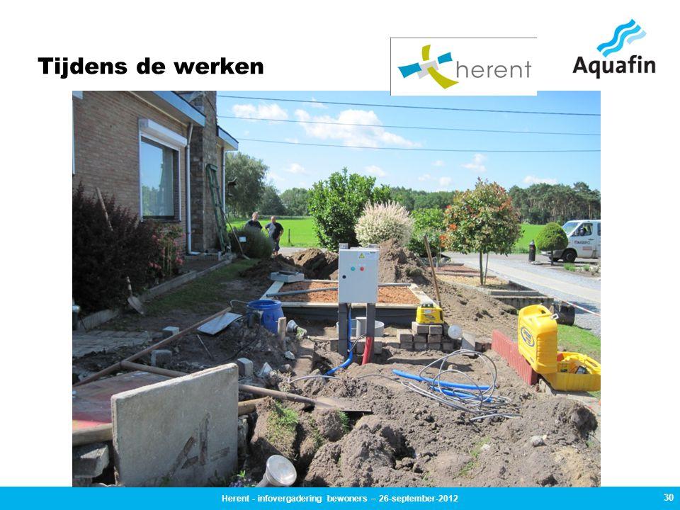 Tijdens de werken 30 Herent - infovergadering bewoners – 26-september-2012