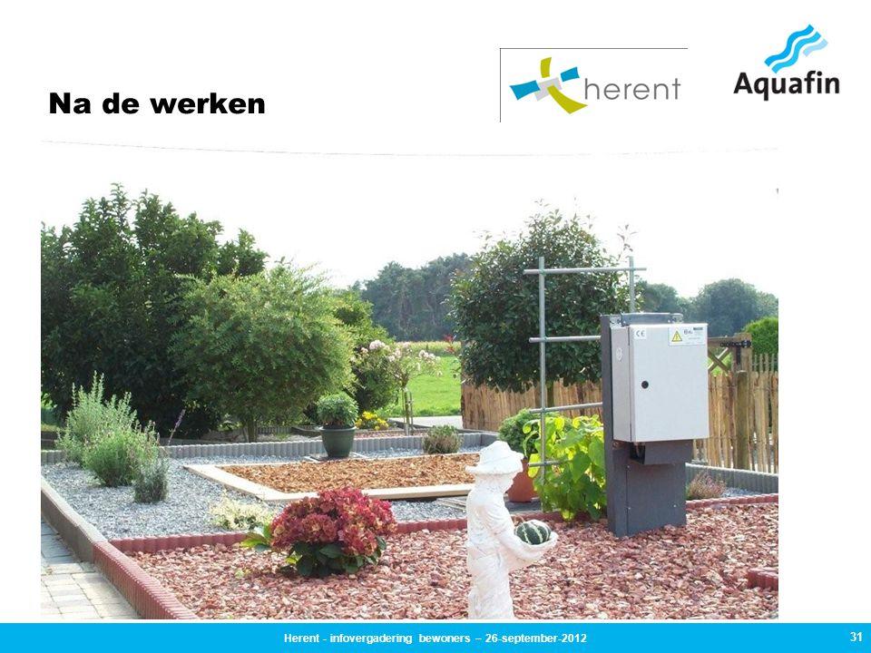 Na de werken 31 Herent - infovergadering bewoners – 26-september-2012