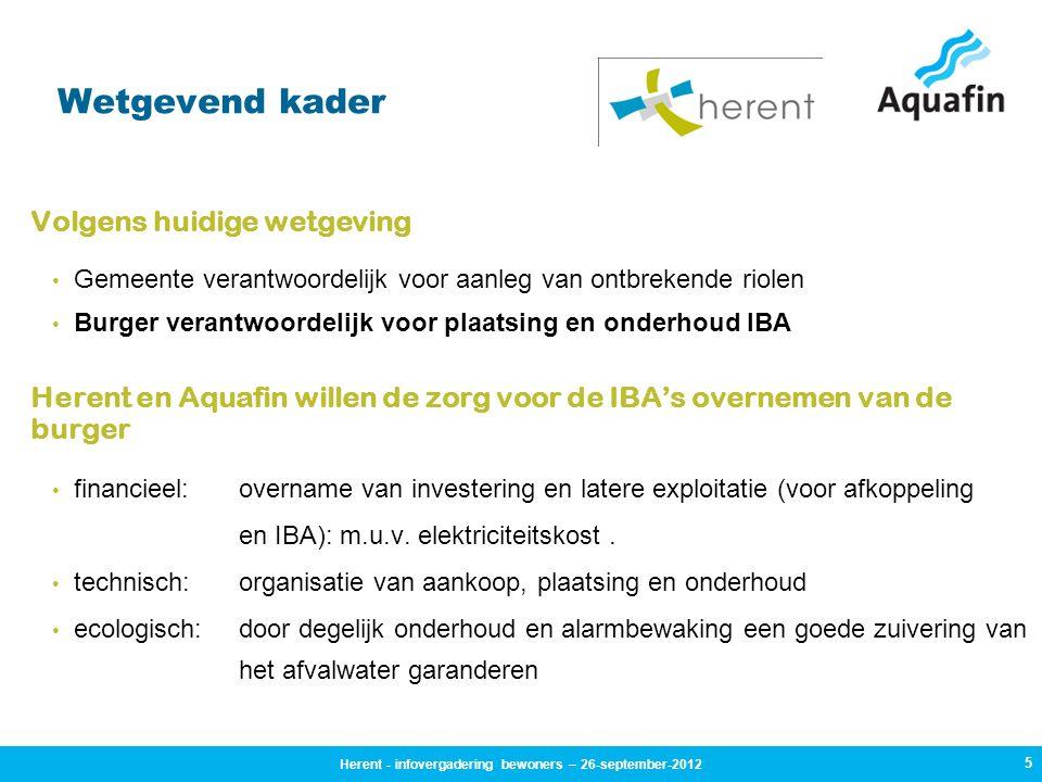 Tijdens de werken: 26 Herent - infovergadering bewoners – 26-september-2012