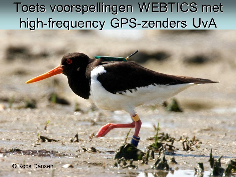 Toets voorspellingen WEBTICS met high-frequency GPS-zenders UvA © Koos Dansen