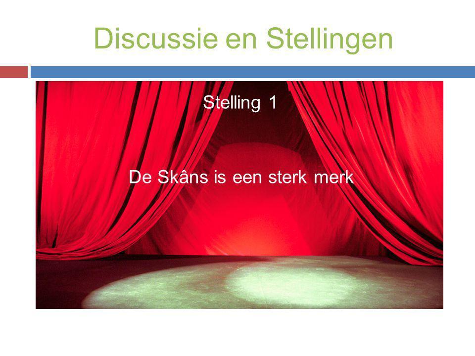 Discussie en Stellingen Stelling 1 De Skâns is een sterk merk