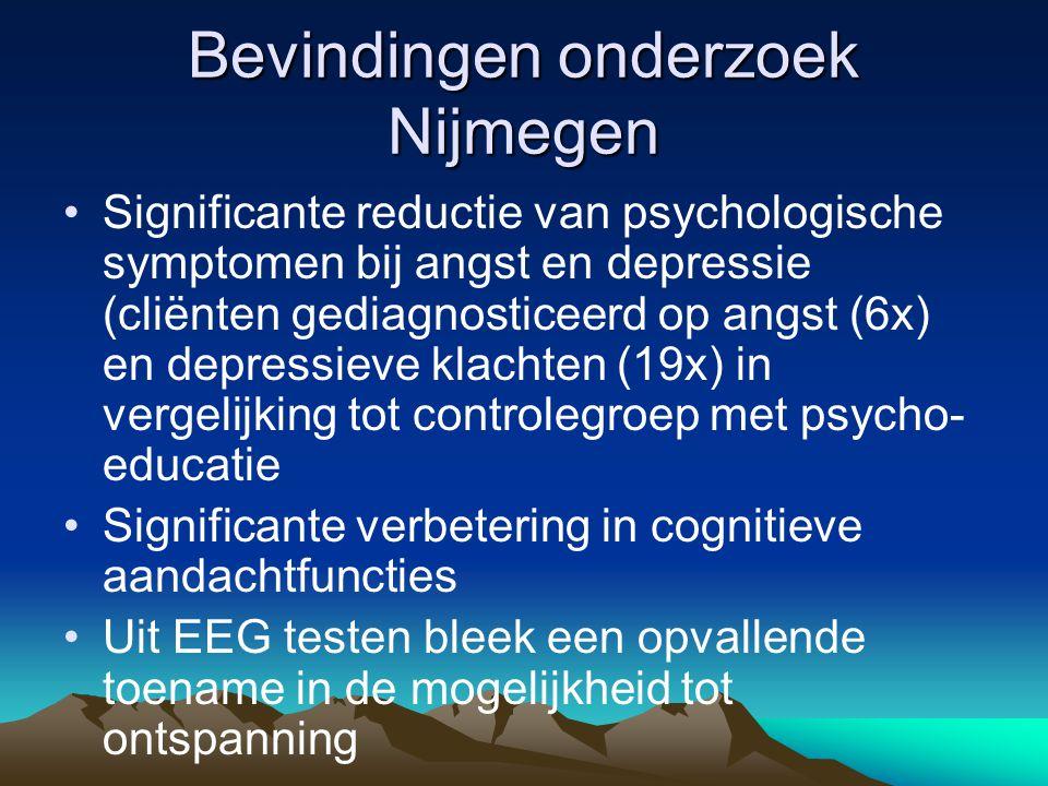 Onderzoeken •Angst •Fybromyalgie •Psoriasis •Eetstoornissen •Stoornissen in lichaamsbeleving •Kanker, chronische pijn •Preventie hartziekten