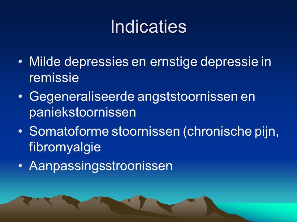 Contra-indicaties •Posttraumatische Stress •Bij een gefragmenteerd zelf of een fragile persoonlijkheidsstructuur kan depersonalisatie toenemen