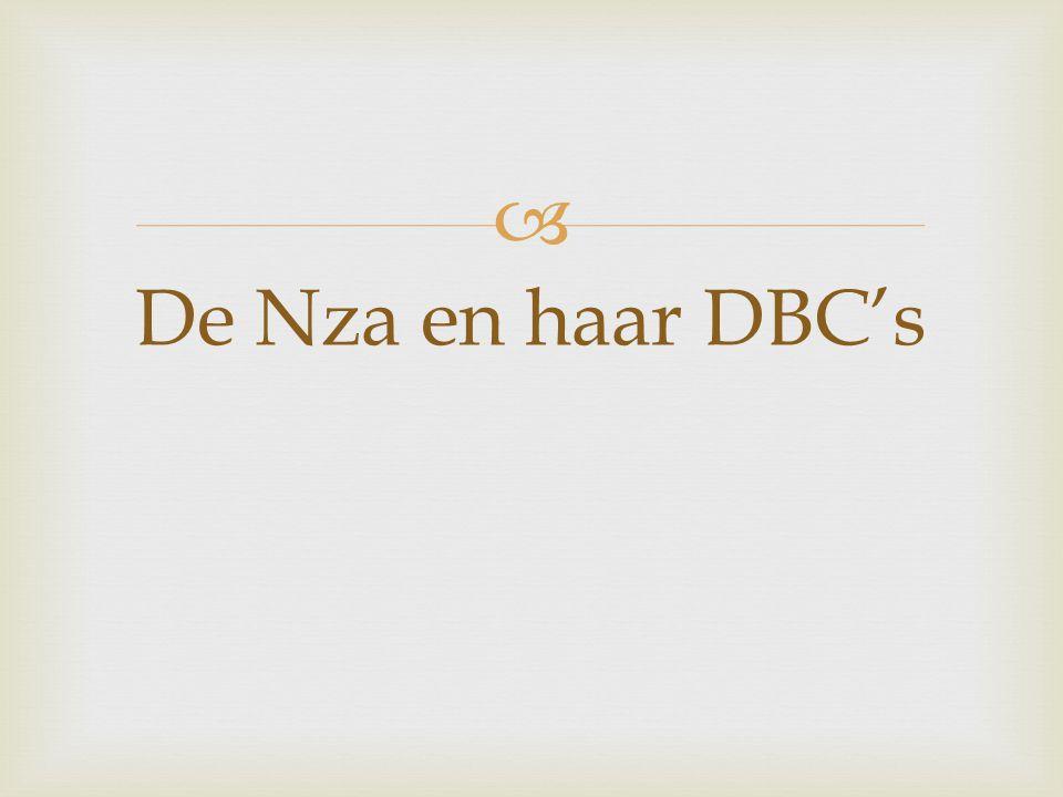  De Nza en haar DBC's