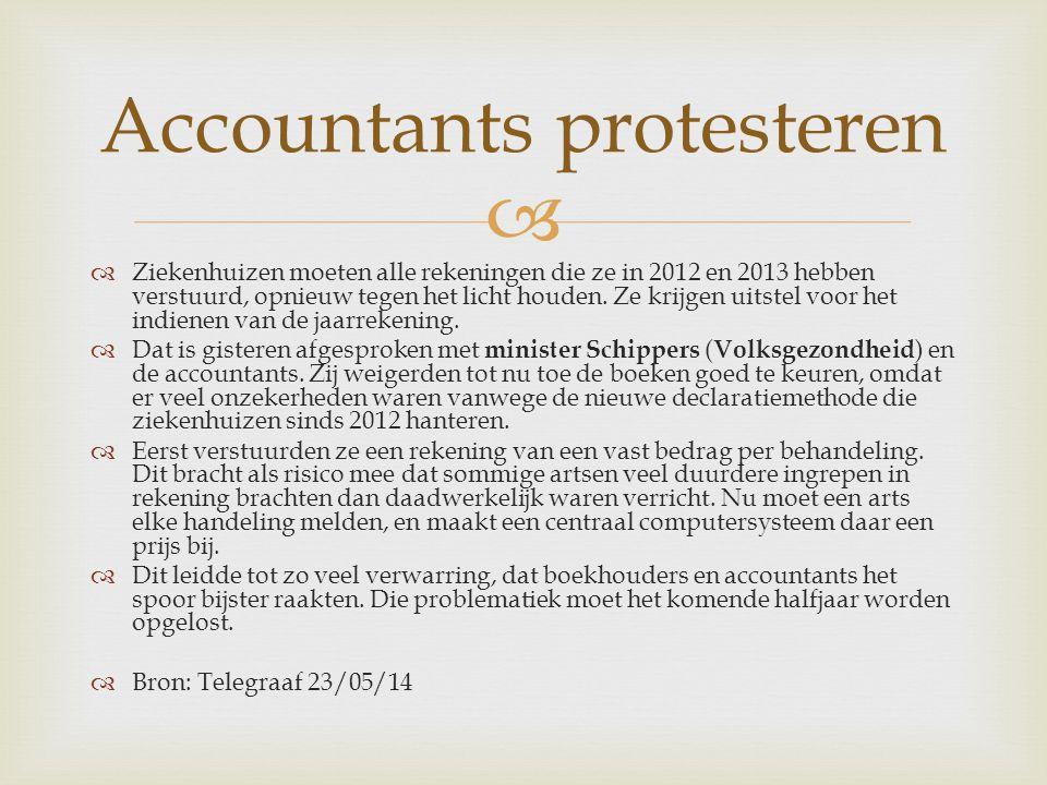   Ziekenhuizen moeten alle rekeningen die ze in 2012 en 2013 hebben verstuurd, opnieuw tegen het licht houden.