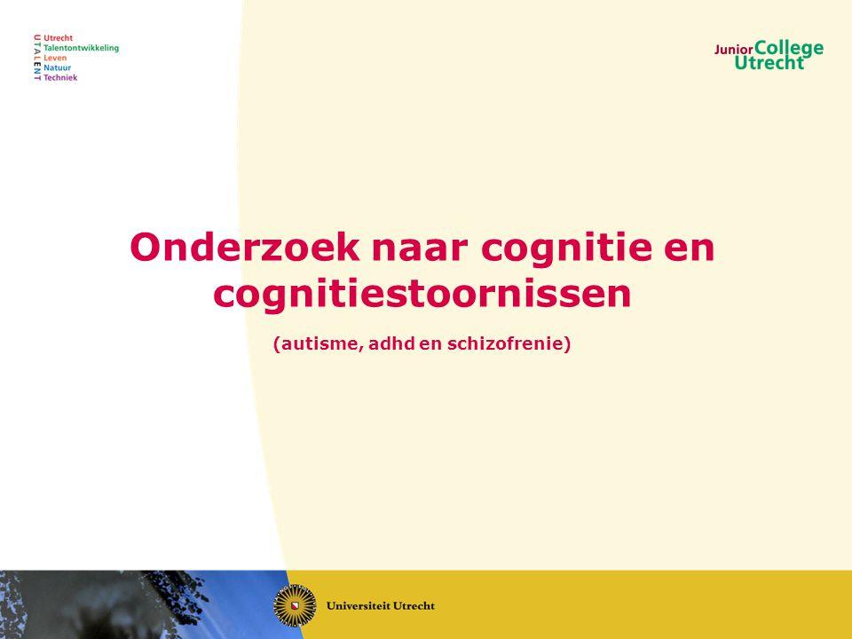 Onderzoek naar cognitie en cognitiestoornissen (autisme, adhd en schizofrenie)