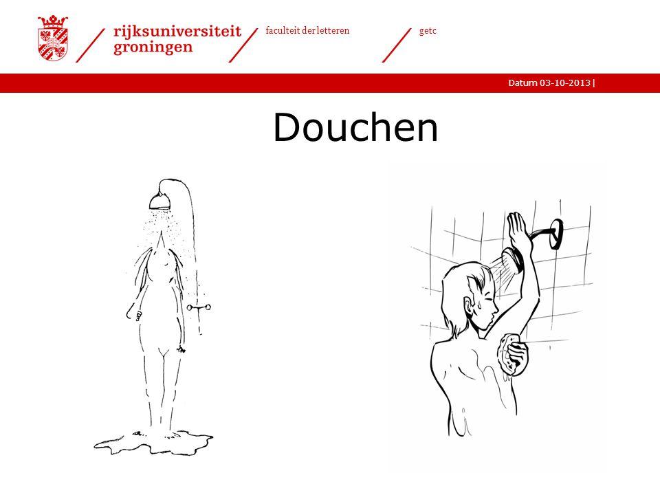 |Datum 03-10-2013 faculteit der letteren getc Douchen