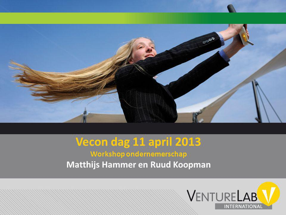 Vecon dag 11 april 2013 Workshop ondernemerschap Matthijs Hammer en Ruud Koopman
