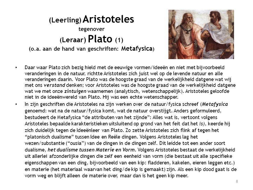 (Leerling) Aristoteles tegenover ( Leraar) Plato (1) (o.a.