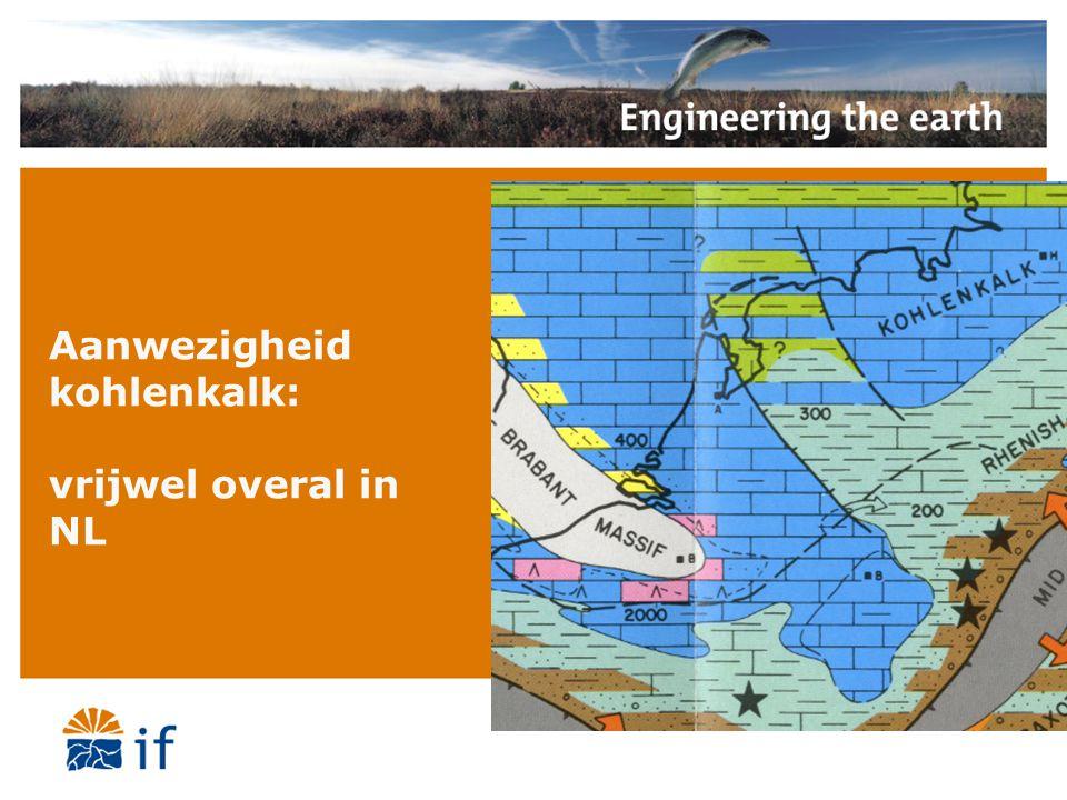 Aanwezigheid kohlenkalk: vrijwel overal in NL