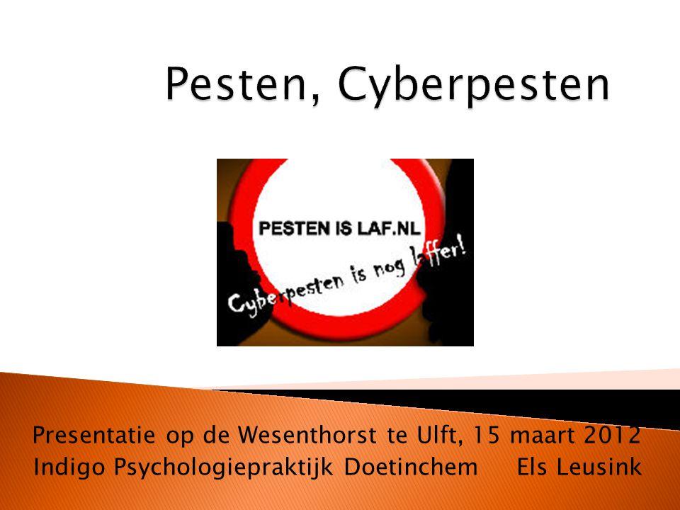 Presentatie op de Wesenthorst te Ulft, 15 maart 2012 Indigo Psychologiepraktijk Doetinchem Els Leusink