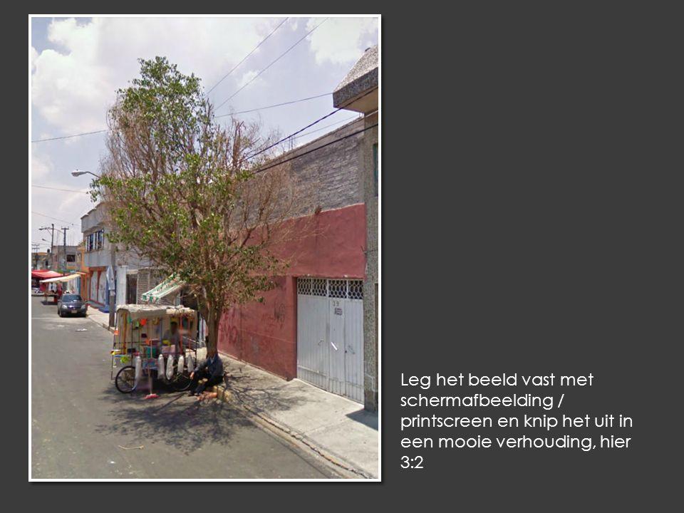 Leg het beeld vast met schermafbeelding / printscreen en knip het uit in een mooie verhouding, hier 3:2
