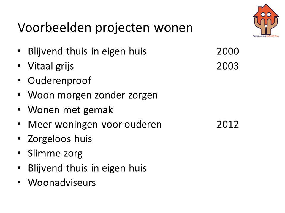 Samenwerkingspartners / aansluiting bij • Stichting Verankering Ouderenproof Prinsenbeek • Vereniging Kleine Kernen Noord-Brabant • Vacpunt wonen • Architectenwinkel Breda • WIJ Breda • Wonen met Gemak • VBOB-projecten