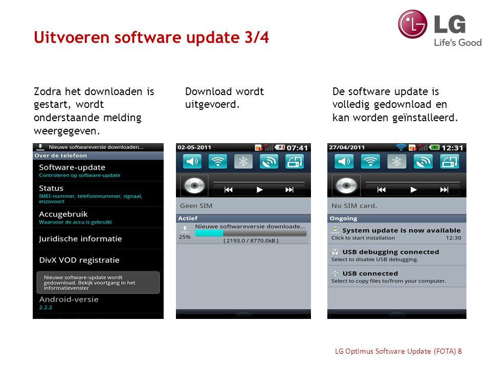 Zodra onderstaande melding verschijnt, selecteer 'Install now' Of selecteer 'Later' om de update op een ander tijdstip te installeren.