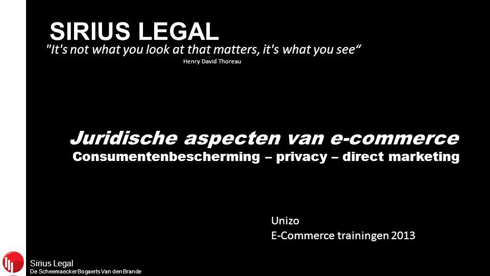 Sirius Legal De Scheemaecker Bogaerts Van den Brande E-commerce is booming business…