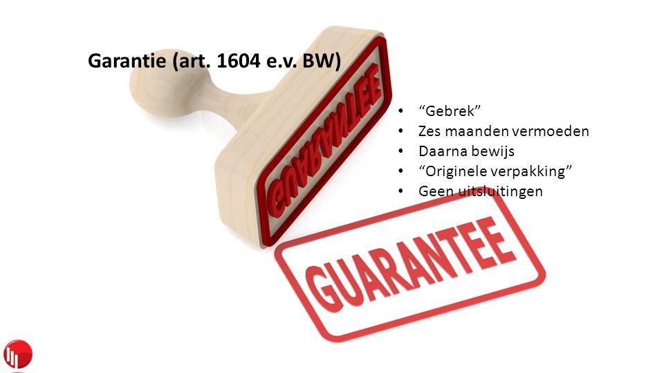 Garantie (art. 1604 e.v.