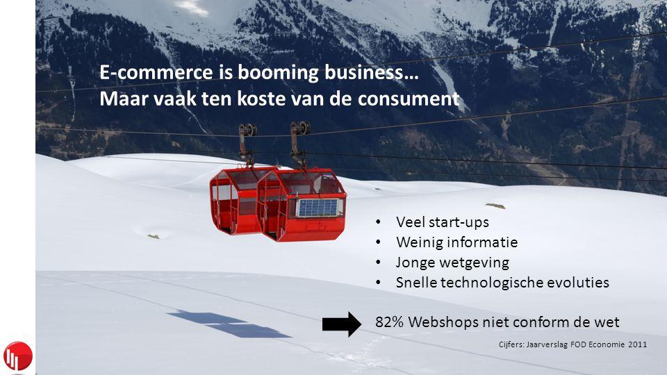 Sirius Legal De Scheemaecker Bogaerts Van den Brande E-commerce is booming business… Maar vaak ten koste van de consument • Veel start-ups • Weinig informatie • Jonge wetgeving • Snelle technologische evoluties 82% Webshops niet conform de wet Cijfers: Jaarverslag FOD Economie 2011