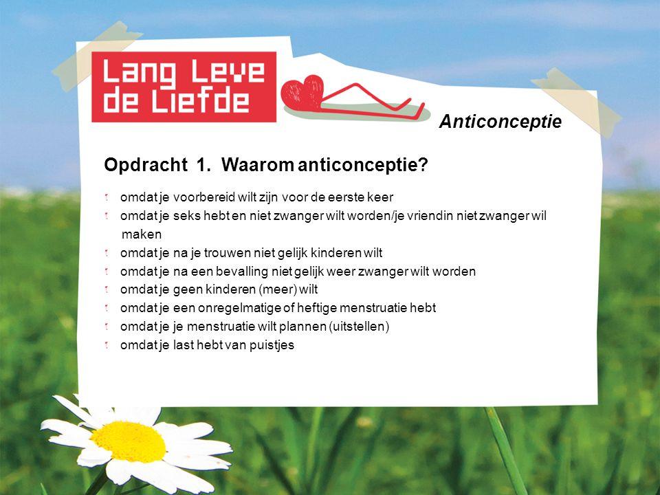 Anticonceptie Opdracht 2.Anticonceptie: wat en hoe.