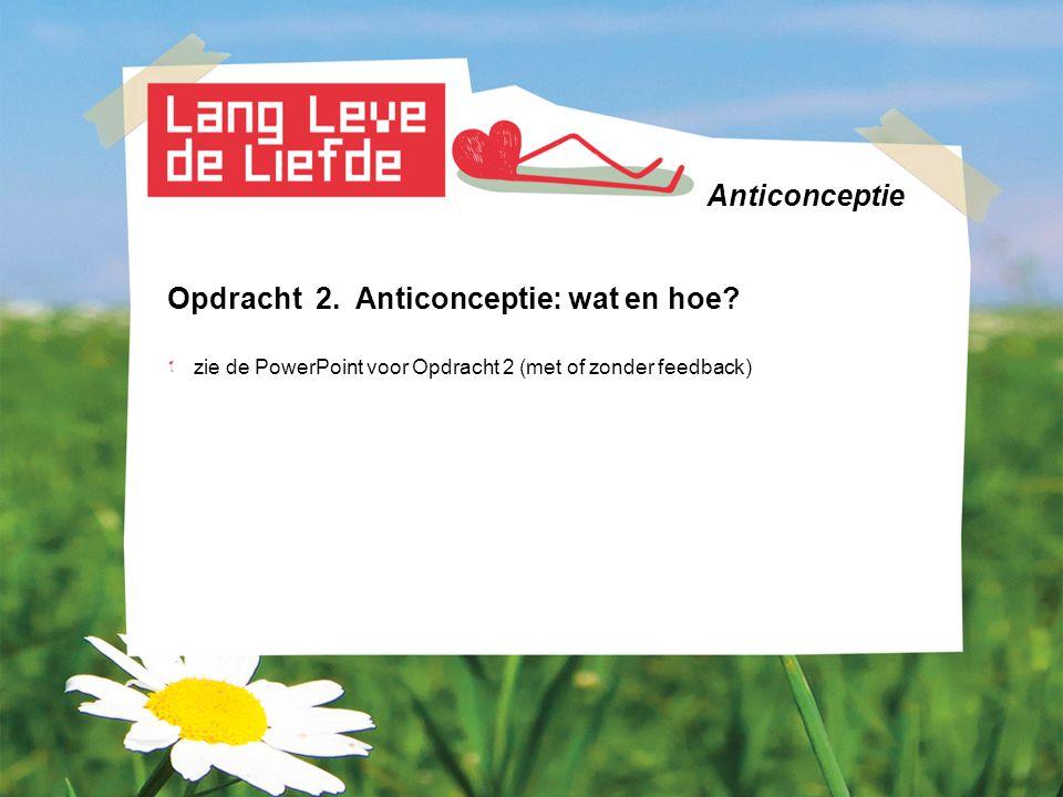 Anticonceptie Opdracht 3.