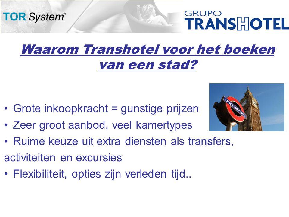 Waarom Transhotel voor het boeken van een stad.
