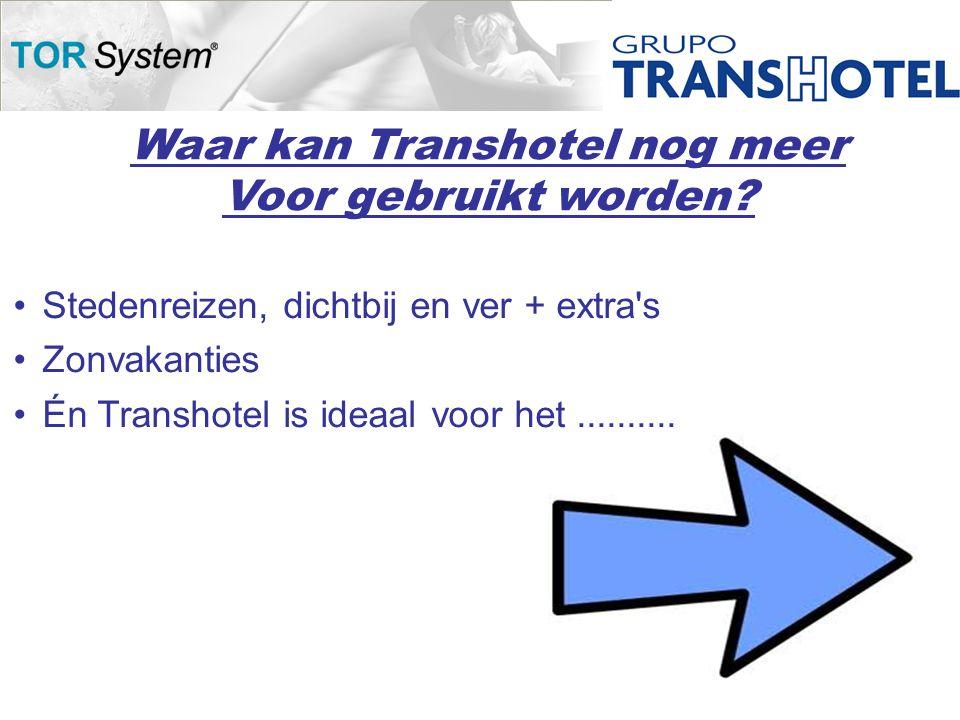 Waar kan Transhotel nog meer Voor gebruikt worden.