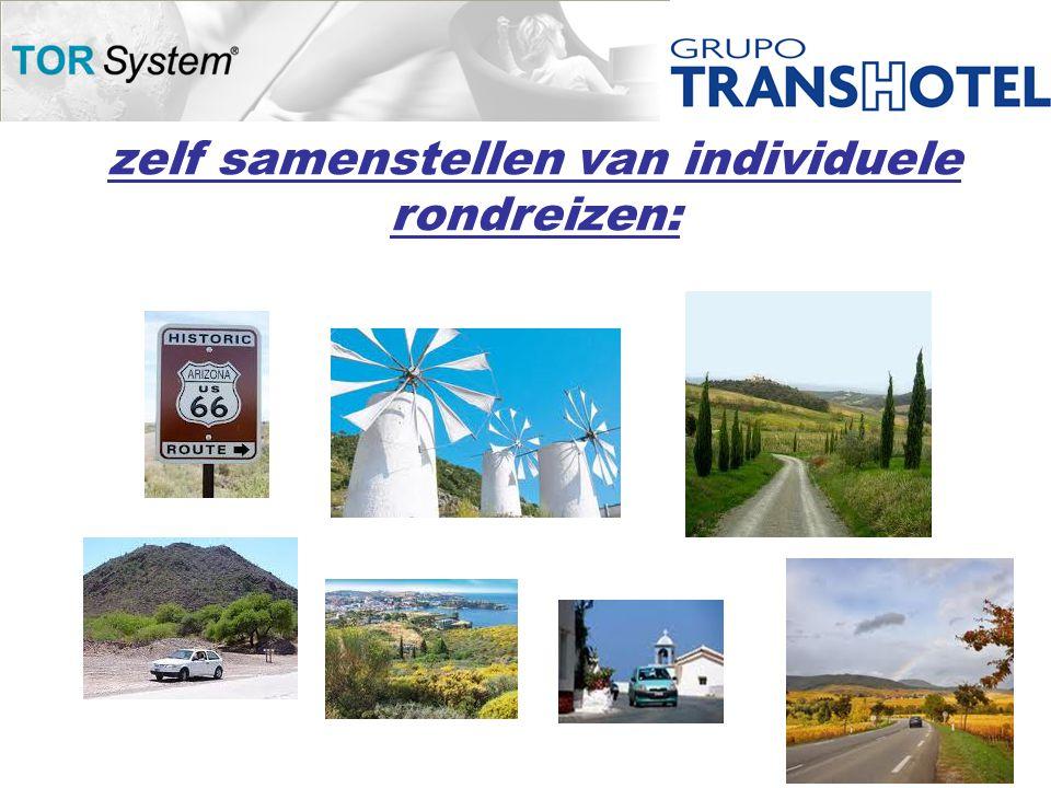 zelf samenstellen van individuele rondreizen:
