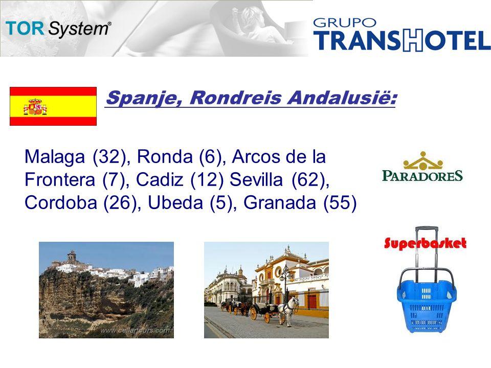 Spanje, Rondreis Andalusië: Malaga (32), Ronda (6), Arcos de la Frontera (7), Cadiz (12) Sevilla (62), Cordoba (26), Ubeda (5), Granada (55)