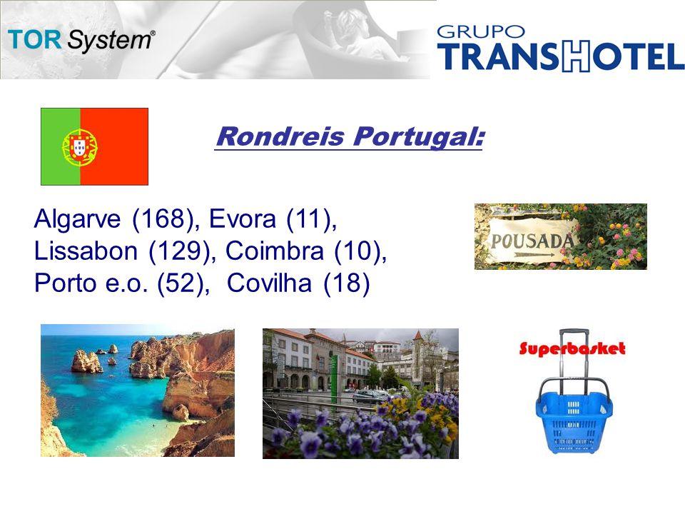 Rondreis Portugal: Algarve (168), Evora (11), Lissabon (129), Coimbra (10), Porto e.o.