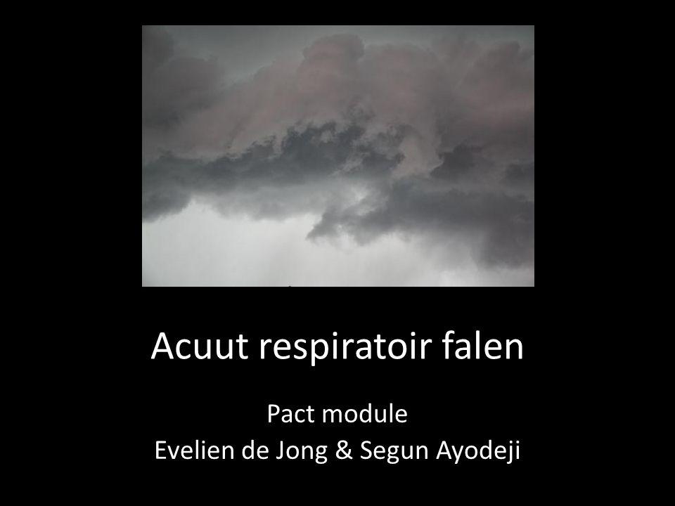 ARF $yndroom • Acute pulmonale aandoening met noodzaak tot actieve ventilatie • Syndroom: – Acute inflammatoire conditie – Non-obstructief, zonder LVF – Behandel onderliggend lijden – Meestal is dit pneumonie • Ernstige gevolgen: 90d mortaliteit = 40%