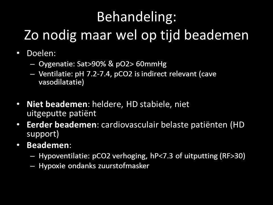 Acuut respiratoir falen Pact module Evelien de Jong & Segun Ayodeji