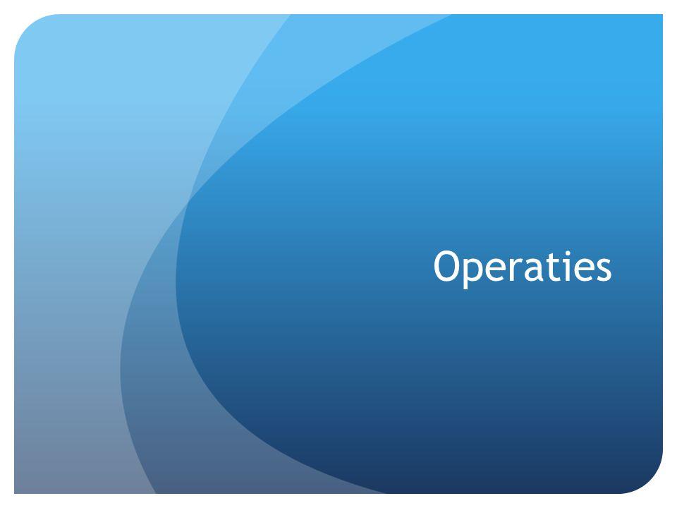 Operaties