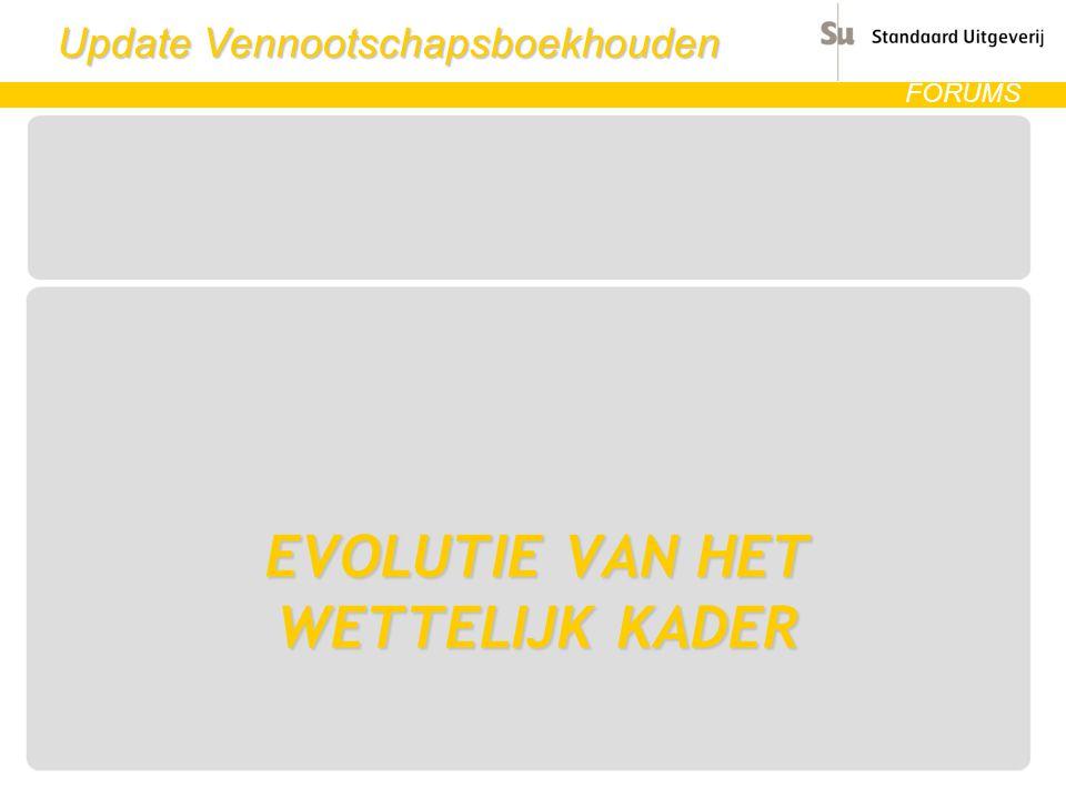 Update Vennootschapsboekhouden FORUMS Art.537 WIB balans NMP o.a.
